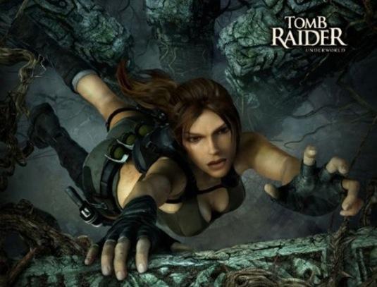 Lara en pleine action