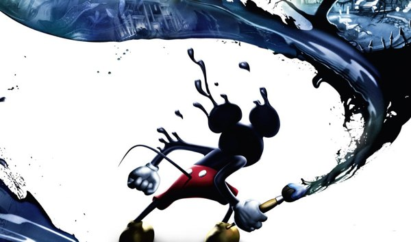Mickey est un As du pinceau