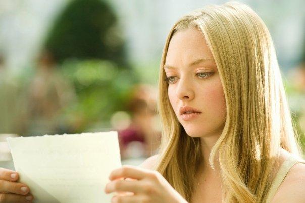 Amanda Seyfried passionnée par une lettre