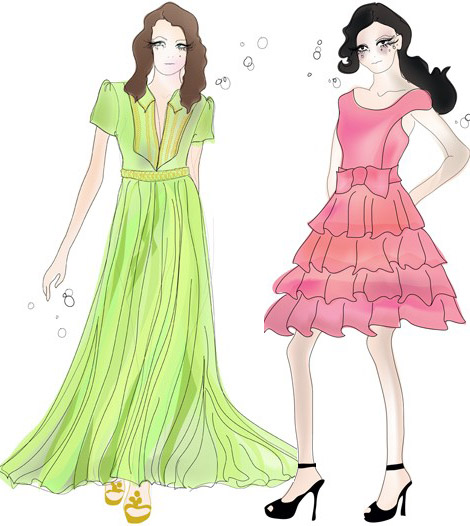 Lily Allen Robes Vintage