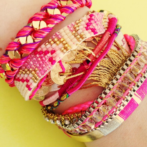 bracelet hipanema rose imperial