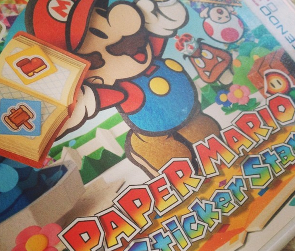 mario stickers 3DS test