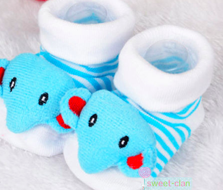 chaussons bébé éléphants
